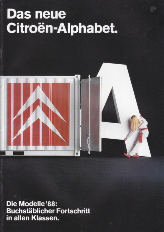 Program all models brochure, 24 pages, 1988, German language