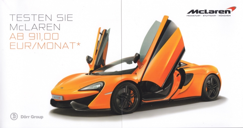570S sportscar, 6 page brochure, German language, 08/2016