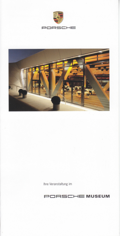Museum events brochure, 4 pages, about 2016, German language