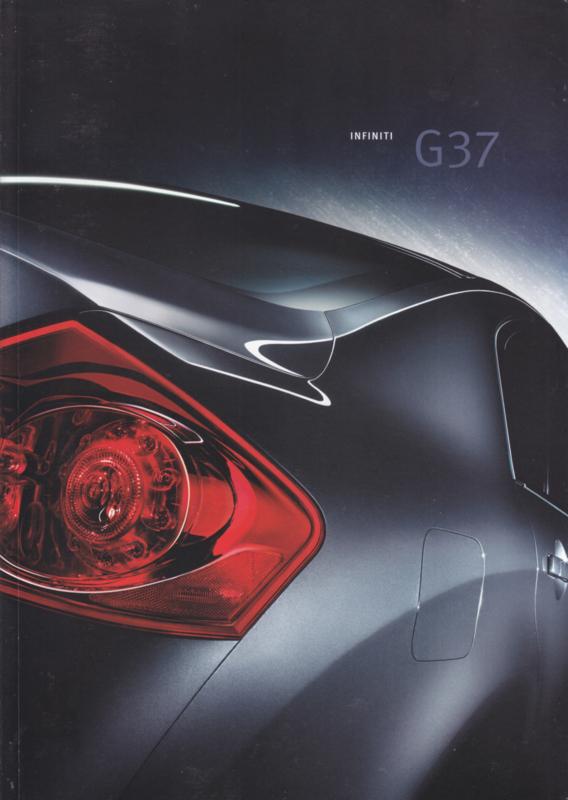 G37 Sedan brochure, 48 pages, Dutch language, 12/2008
