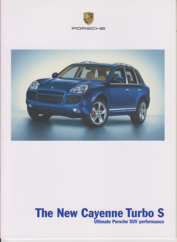 Cayenne Turbo S brochure 2006, 14 pages, WVK 413 423 06, USA, English