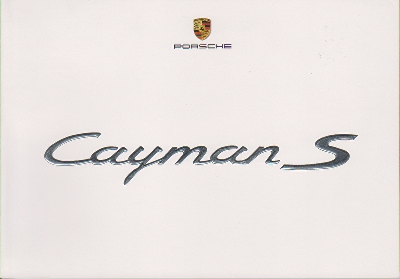 Cayman S intro brochure, 56 pages, 03/2005, German