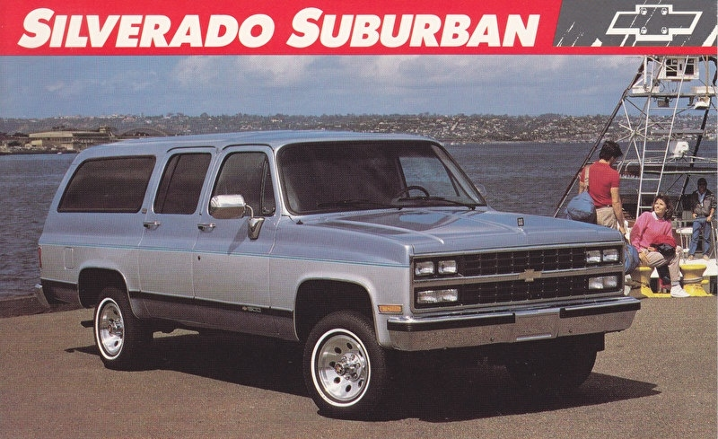 Silverado Suburban,  US postcard, large size, 19 x 11,75 cm, 1989