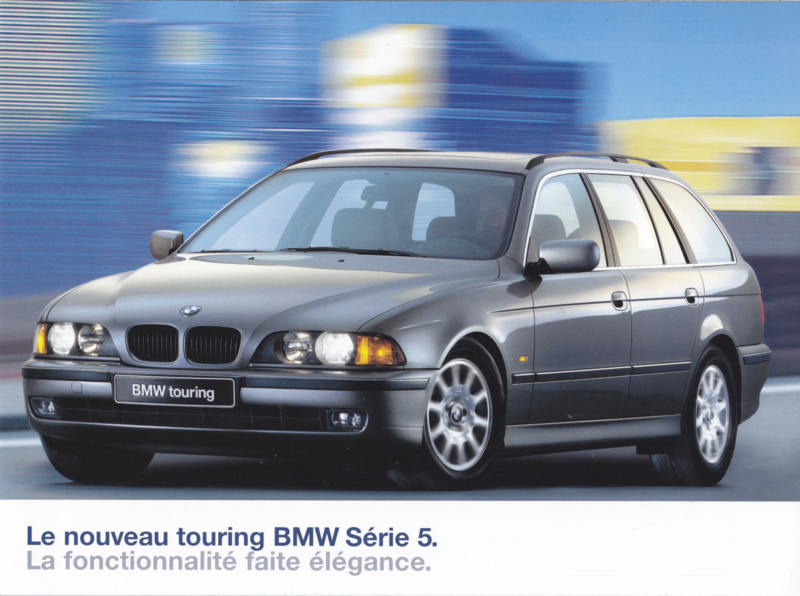 5-Series Touring brochure, 12 pages, A4-size, 01/1997, French language
