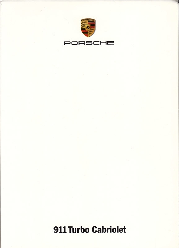 911 Turbo Cabriolet, A6-size set with 6 postcards in white cover, 2008, WVK 231 100 08