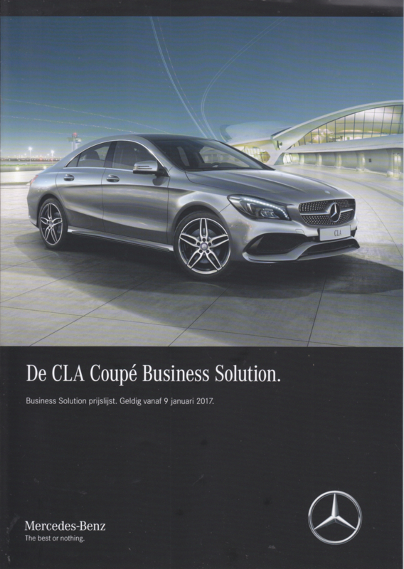 CLA Coupé Business Solution special edition brochure, 4 pages, 01/2017, Dutch language