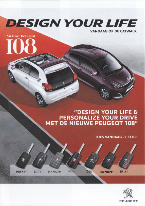 108 Personalized versions brochure, 4 pages, Dutch language, 2014