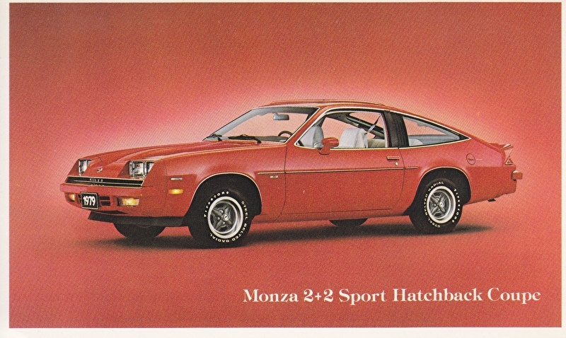 Monza 2+2 Sport Hatchback Coupe, US postcard, standard size, 1979