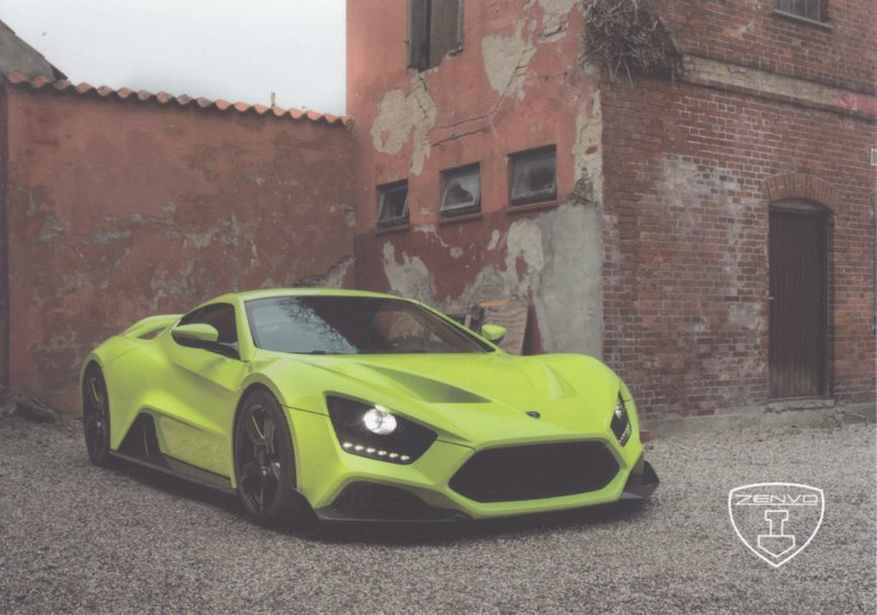 Zenvo TS1 sports car, A5-size postcard, factory-issued, 2018, month: September