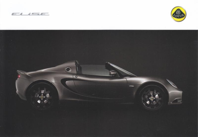 Elise sportscar,  A5-size postcard, 2010, UK, factory-issued, English language