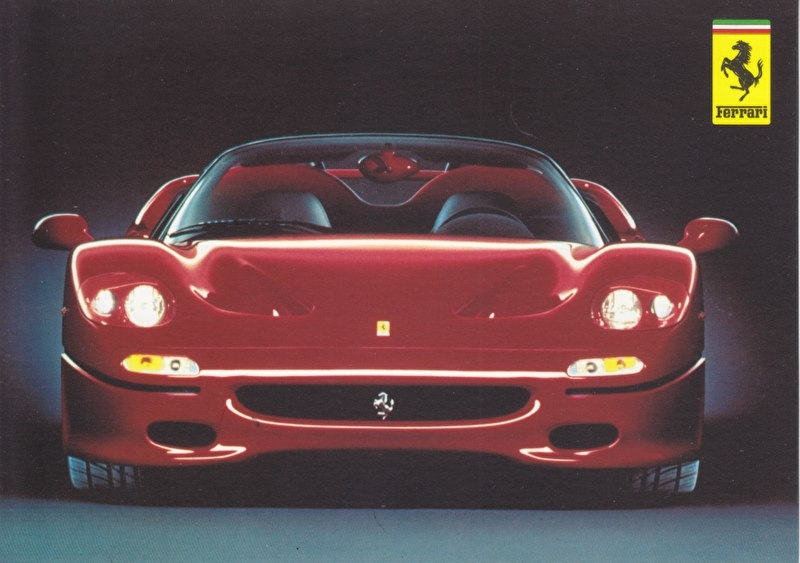 F50, A6-size postcard, factory issued, no text on the back