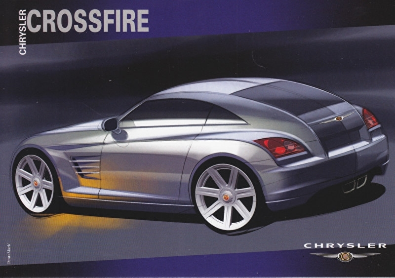 Crossfire Coupe, A6-size postcard, 2002, issue Chrysler France
