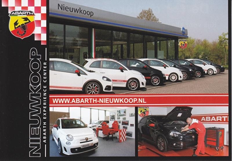 500 & Punto flyer, DIN A-6 size, Dutch language, about 2010
