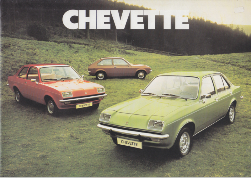 Chevette model range, 12 pages, Dutch language, about 1978
