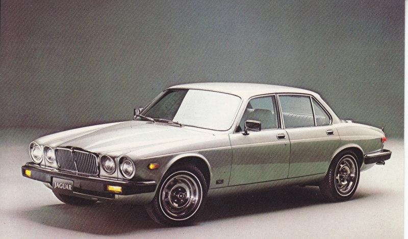 XJ Sedan Series III postcard, USA, standard size, about 1985