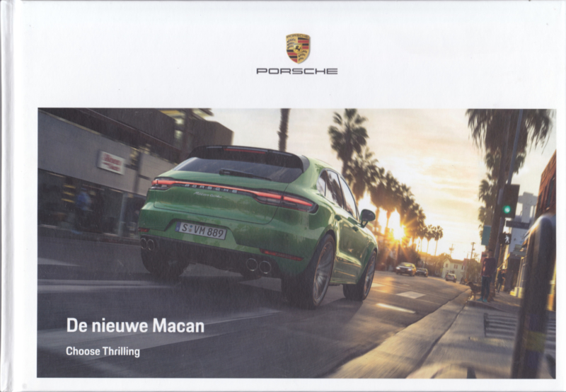 Macan model brochure, 116 pages, 08/2019, hard covers, Dutch language
