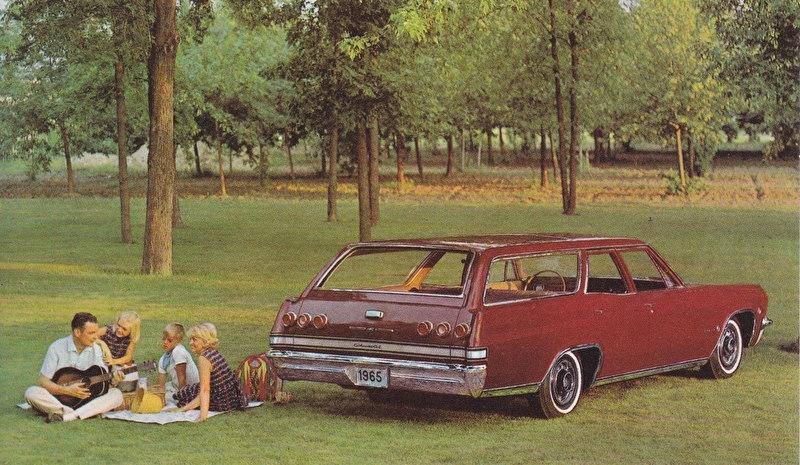 Impala 4-Door Station Wagon, US postcard, standard size, 1965, # 7