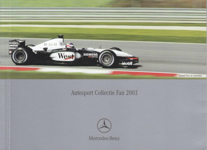 Autosport collection mini brochure, 40 pages, 08/2003, Dutch language