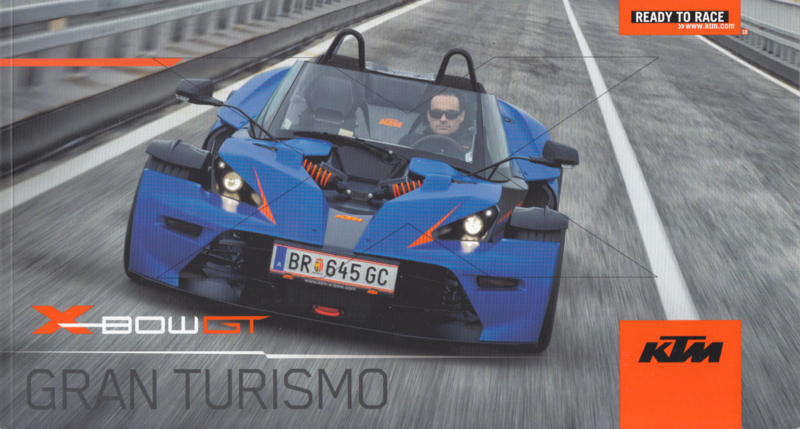 KTM X-Bow GT brochure, 26 pages, 2/2013, English language
