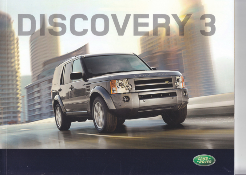 Discovery 3 brochure, 60 pages, DIN A4-size, 08/2008, Dutch language