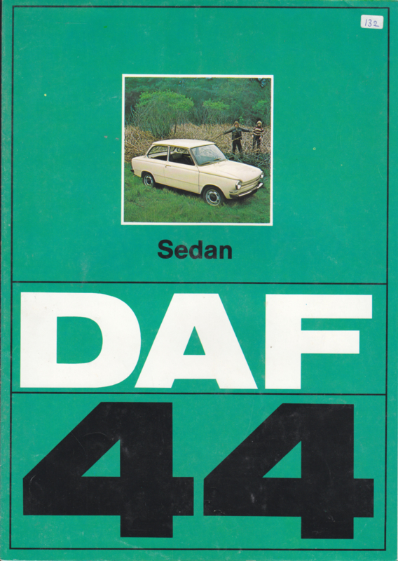 44 Variomatic Sedan brochure, 8 pages, 09/73, Dutch language