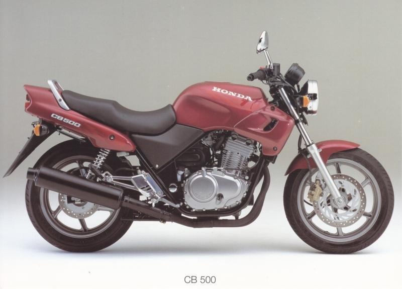 Honda CB 500 postcard, 18 x 13 cm, no text on reverse, about 1994