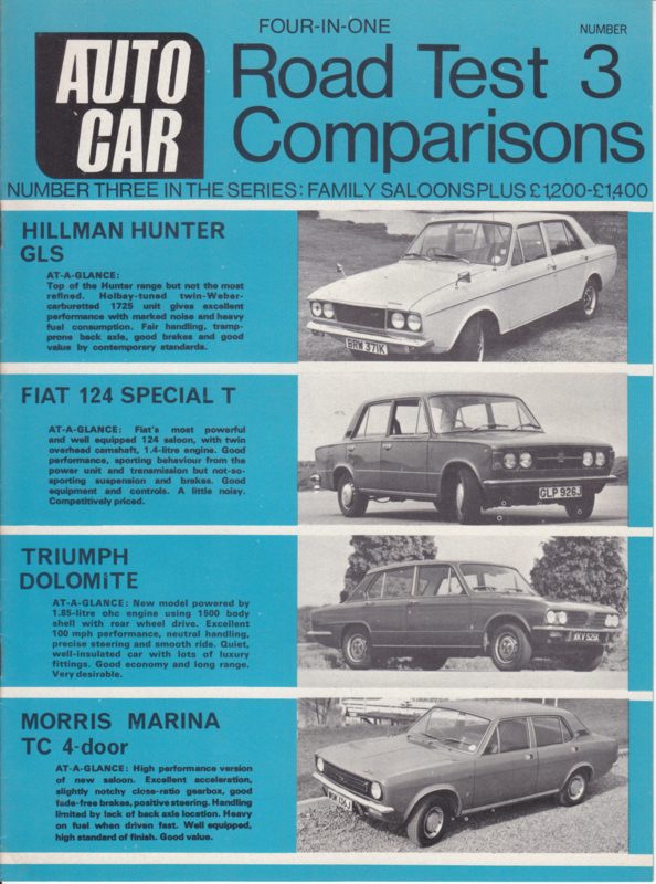 Autocar 4-in-one roadtest comparisons, # 03, 12 pages, 1971, English language