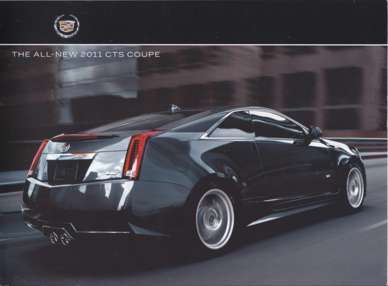 CTS Coupe brochure, 14 pages, 2011, USA, English language