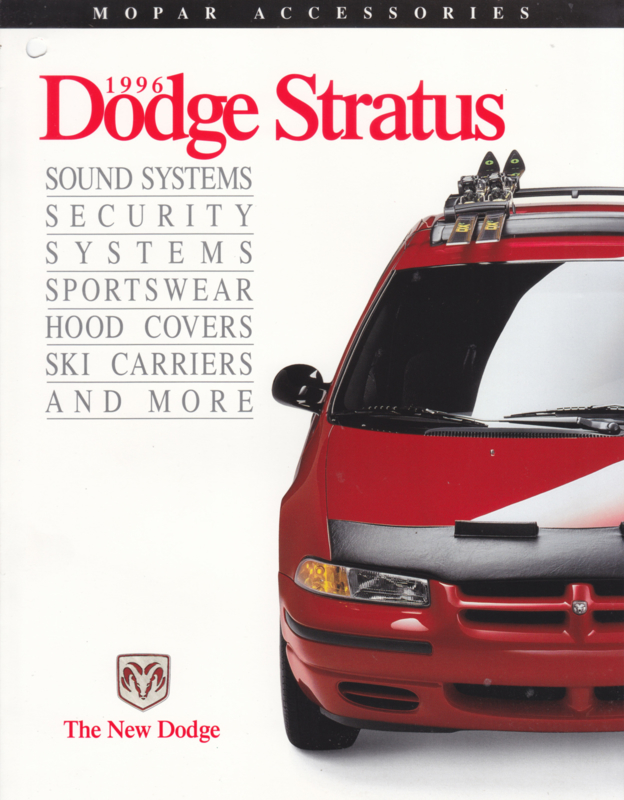 Stratos accessories brochure, 4 pages, 1996, English language, USA
