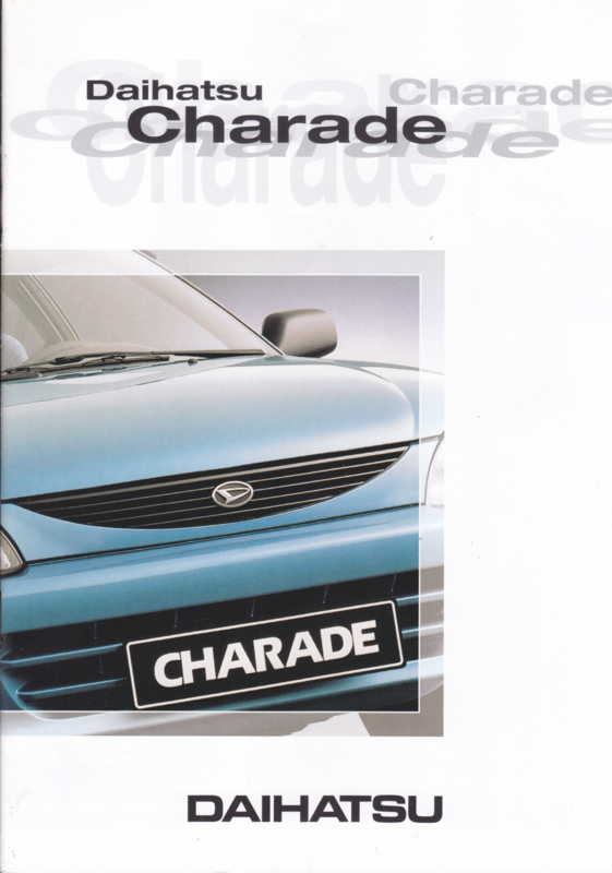 Charade brochure, 20 pages, about 1997, A4-size, Dutch language