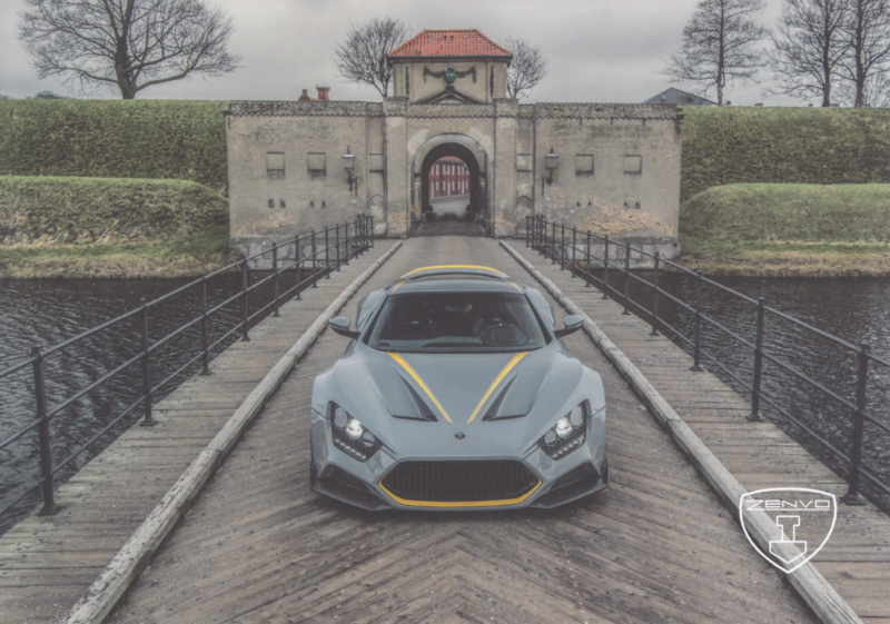 Zenvo TS1 sports car, A5-size postcard, factory-issued, 2018, month: January