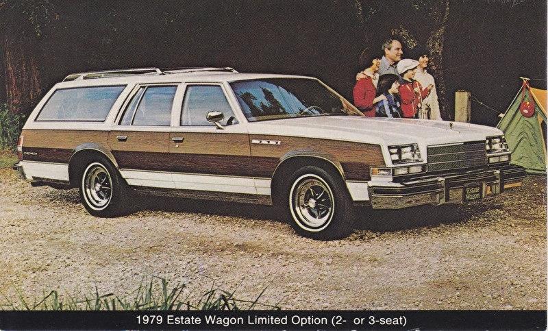 Estate Wagon Limited Option 2/3-seat, US postcard, standard size, 1979