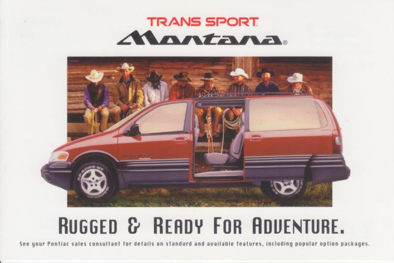 Trans Sport Montana, 1998, continental size, USA