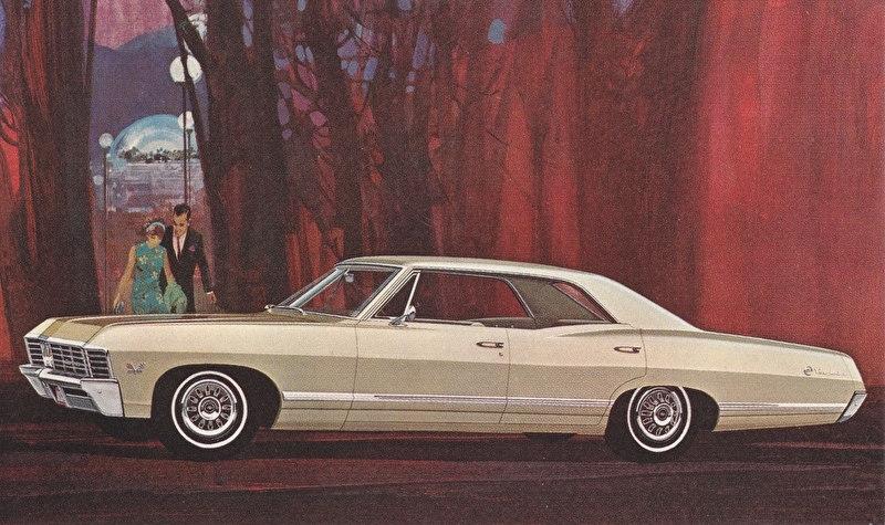 Impala Sport Sedan, US postcard, standard size, 1967