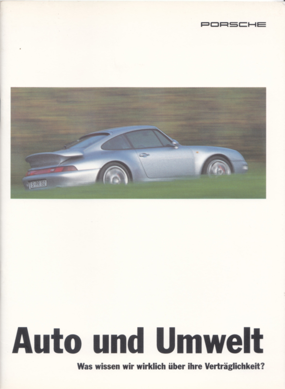 Porsche & Environment, 28 pages, 01/1996, German language
