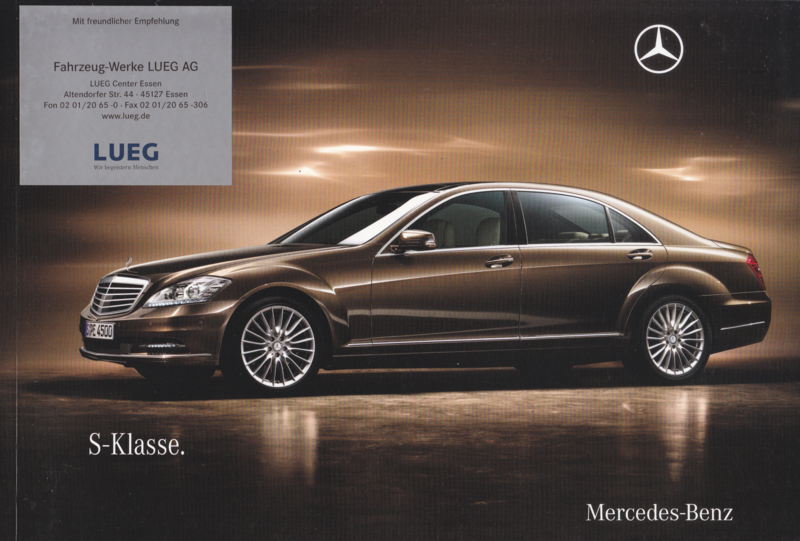S-class Sedan brochure, 102 pages, 07/2009, German language