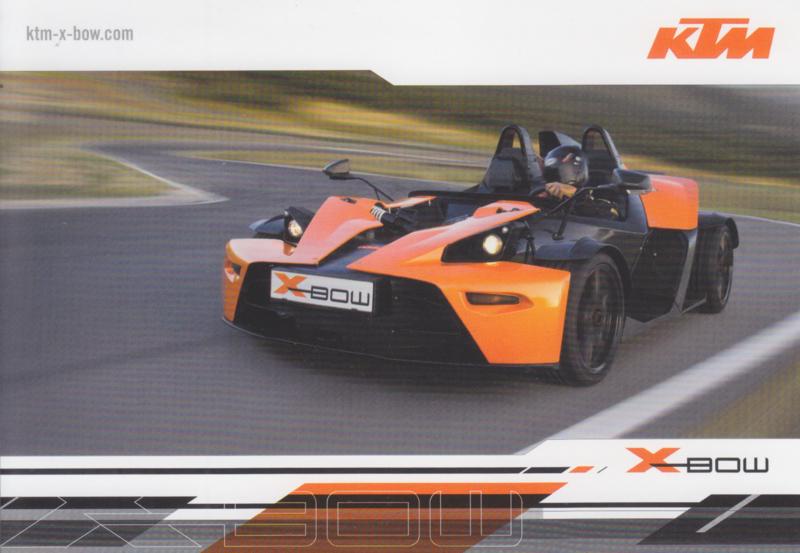 KTM X-Bow, advertising card, German, 2008