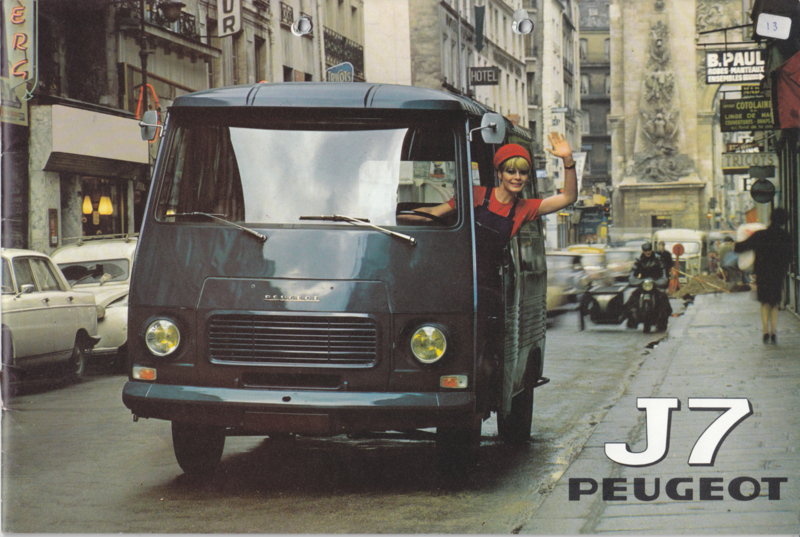 J7 Vans & Pickups brochure, 32 pages, A4-size, 07/71, Dutch language