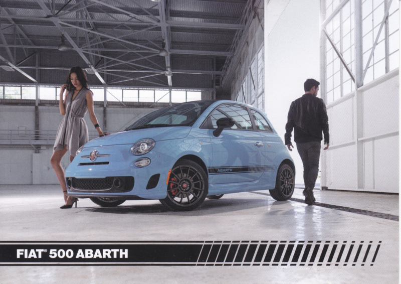 500 Abarth, US-issued  picture card, size 17,5 x 12,5 cm, 2016