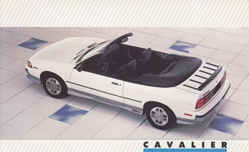 Cavalier Convertible,  US postcard, large size, 19 x 11,75 cm, 1988