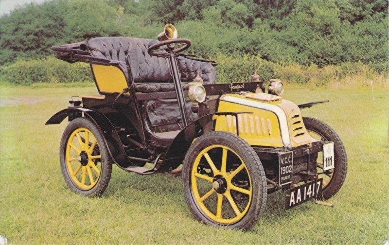 Peugeot 1902, regular size postcard, LI/7953/T, English (GB)