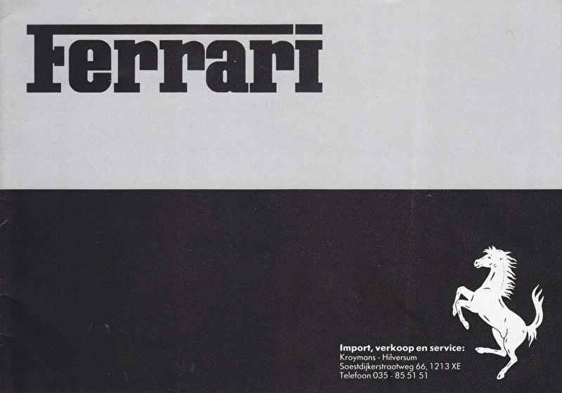 Program brochure, 8 pages, about 1985, Dutch language