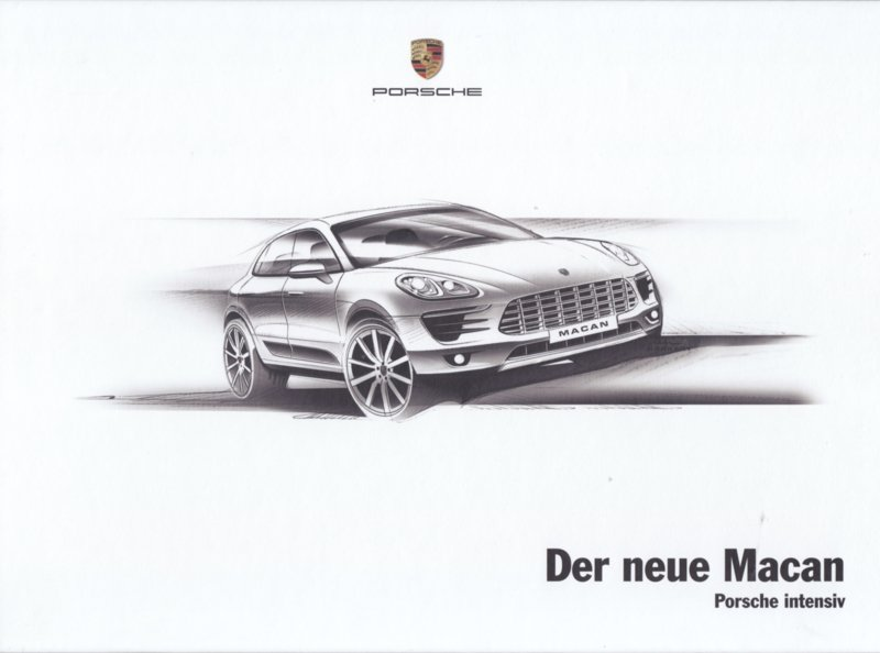 Macan introduction brochure, 52 large pages (A4), 10/2013, hard covers, German