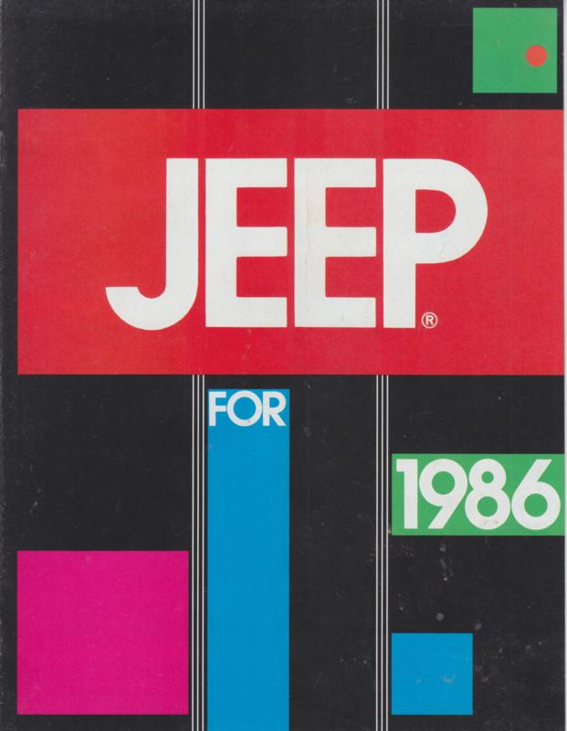 program 1986 brochure, 8 pages, USA