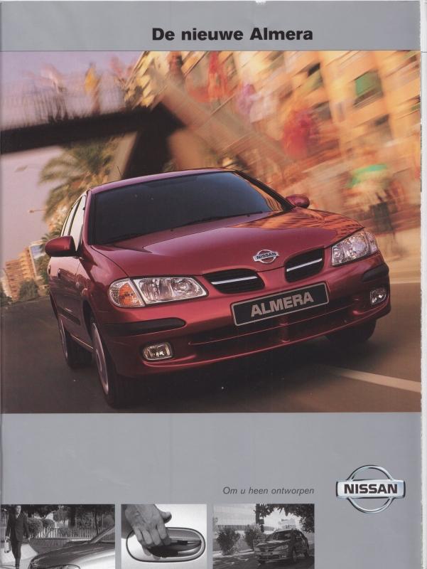 Almera brochure, 42 pages, about 2001, Dutch language