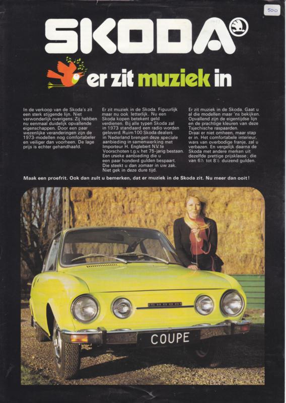 Program 100/110 Sedan & Coupé leaflet, 2 pages, Dutch language, 1974