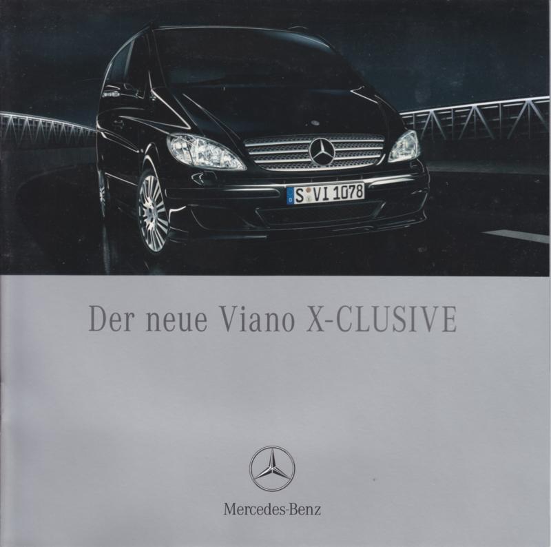 Viano X-Clusive brochure, 12 pages, 09/2007, German language