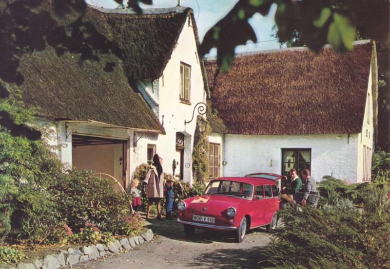 1500 Wagon postcard, DIN A6-size, unused, # 157.149.00