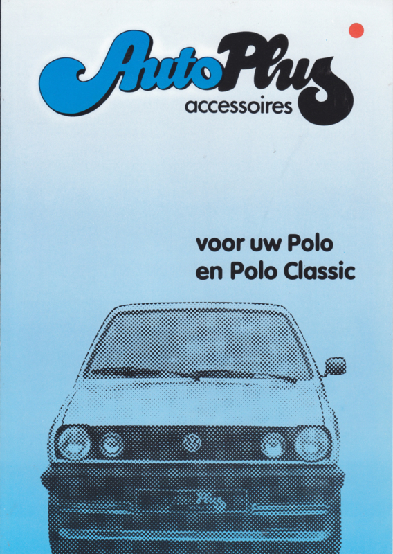 Polo accessories (Zubehör) brochure, 4 pages,  A4-size, Dutch language, 05/1983