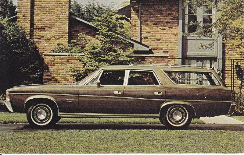 Ambassador Brougham 4-Door Wagon, US postcard, standard size, 1971